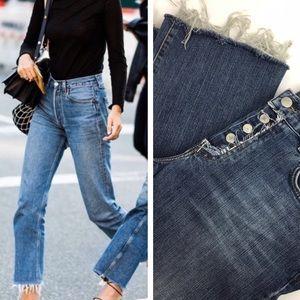 Lucky Brand Button Fly Raw Hem Jeans Size 6 28